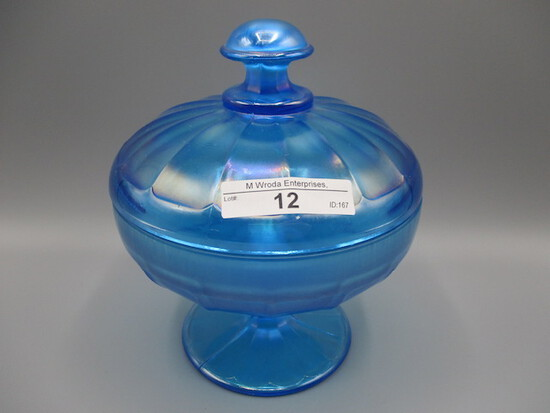 Nwood celeste blue stretch covered candy dish