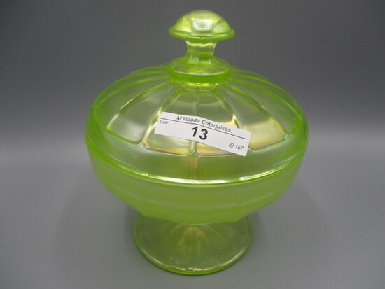 Nwood vaseline stretch covered candy dish