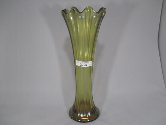 "Nwood 11"" russett Thin Rib vase."