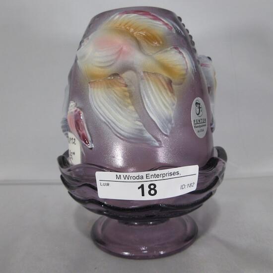 Fenton goldfish fairy light, purple