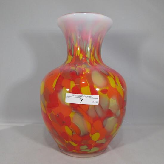"""Fenton Dave Fetty 9"""" mosaic vase"""
