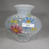 Fenton opalescent HP vase