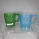 2 mugs w embossed swallows