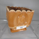 Chocolate medallion square bowl