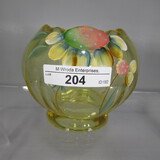 Fenton HP floral rosebowl
