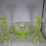 Imperial Double Scroll console set- as shown vaseline