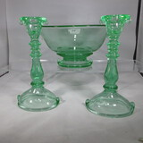 Imperial Double Scroll console set- as shown green