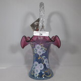 Fenton mulberry painted 10