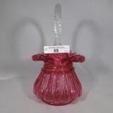 Fenton 8 cranberry basket