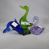 3 glass animals