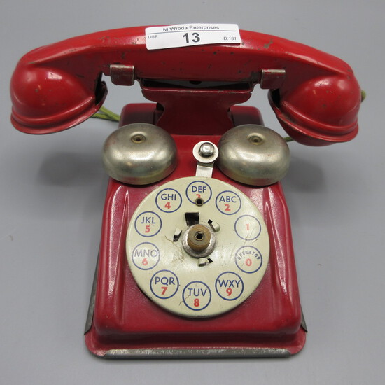 red child's toy phone-As Is