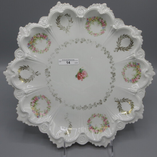 """Unmarked oyster plate 12.5"""""""