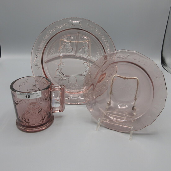 Indiana Glass Nursery Rhyme set-purple