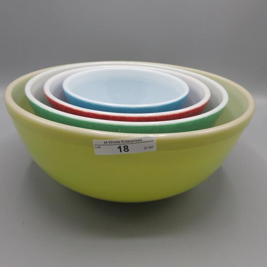 Pyrex Primary set-4 bowls