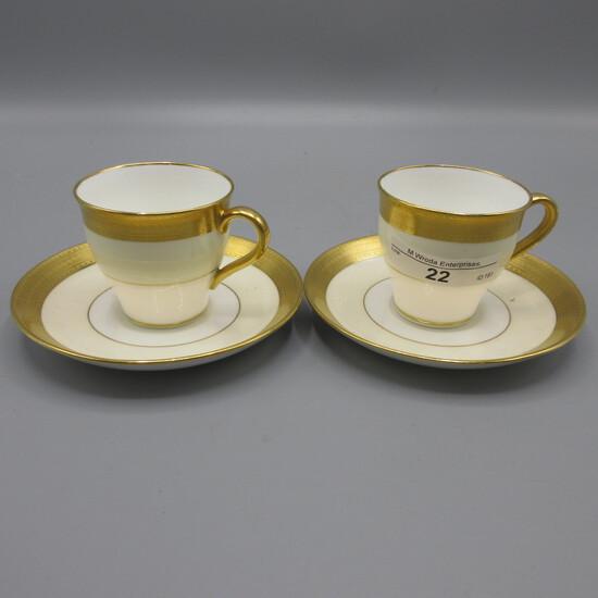 Mintons Tiffany & Co. Greek Key demitasse cups