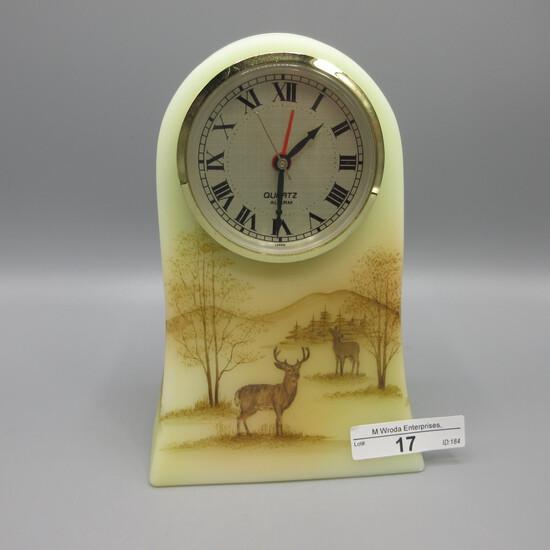 Fenton HP clock w/ Deer - Frederick