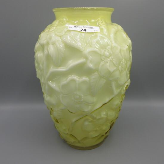 """Fenton 12"""" Dogwood cased vase"""
