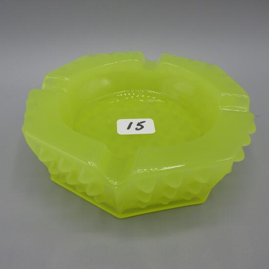 Fenton Jonquil Hobnail small ashtray