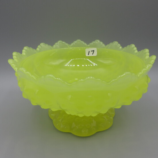 "Fenton Jonquil Hobnail candy bowl-3"""