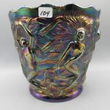 Fenton Carnival Mermaid vase-6.5