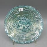 Vintage Imperial blue Carnival plate-6.5