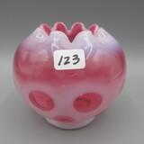 Vintage Fenton Cran. Coin Dot rose bowl-4