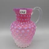 Czech (?) cranberry opal. small pitcher-6