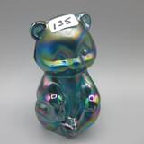 Fenton teal Carnival sitting bear
