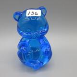 Fenton blue sitting bear