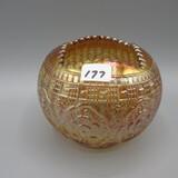 Fenton marigold Carnival Persian Medallion rose bowl-3.5