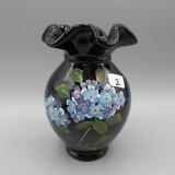 Fenton black vase-5.5