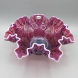 Fenton plum opal Hobnail bowl-10
