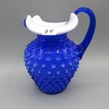 Fenton cobalt Hobnail cased pitcher-6