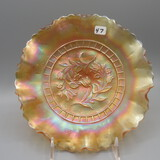 Fenton marigold Carnival Wind Flower bowl-9