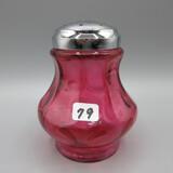 Fenton cranberry Coin Dot sugar shaker-4.5