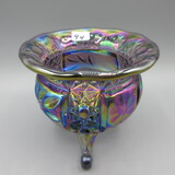 purple Carnival 4-footed bowl-4