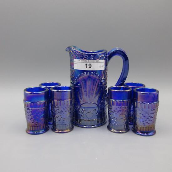 FEnton 7pc minature Blue Water set