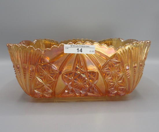 """Marigold 10"""" square Curved Star master berry bowl"""