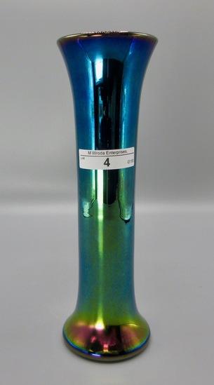 """Imperial Lead Lustre 8.5""""cobalt flared base vase"""