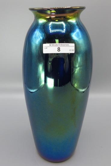 "Imperial Lead Lustre 11"" cobalt urn shaped vase All of the Lustre vases has"