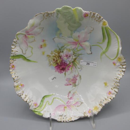 "Hidden Image 11"" floral bowl. Scarce"