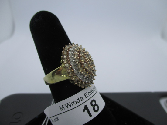 Ring-10K diamond, size 7.25