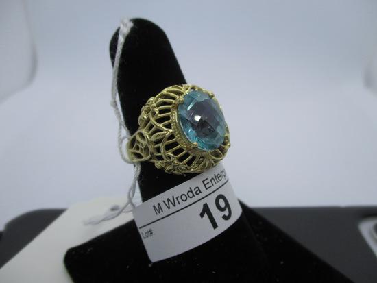 Ring-10K Topaz, size 7.25