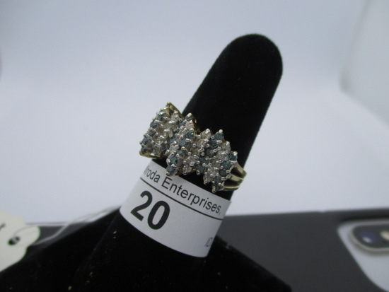 Ring-14K tanzinite & diamond, size 7