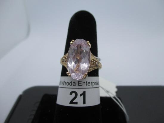 Ring-14K pink stone?, size 7