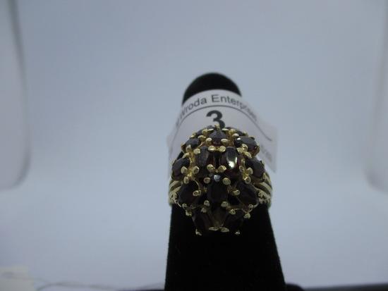 Ring-14K Garnet, size 8