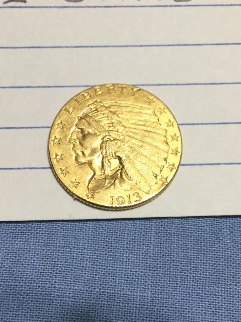 1913 Indian Head $2.50 Quarter Eagle
