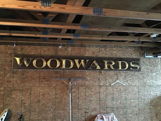 Woodwards sign