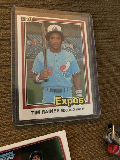 Tim Raines Second Base Expos Baseball Trading Cards Art Antiques