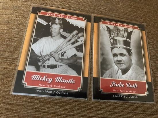 Mickey, Babe Ruth New York Yankees Upper Deck Legends Card